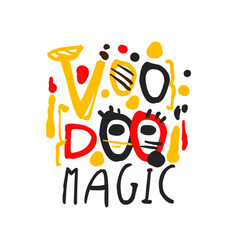 Spiritual or magical lettering label for voodoo vector