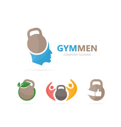 sport and man logo combination gym and vector image vector image