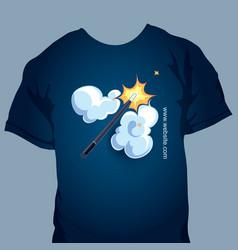 t-shirt print vector image