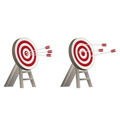 targets with arrows vector image