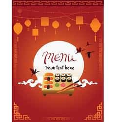 Template Design of Asian Menu vector image vector image