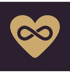The heart and infinity icon heart and infinity vector