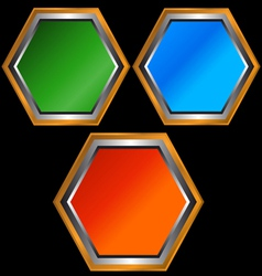 Three web icons vector image