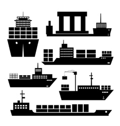 Transportation and shipping icons vector image vector image