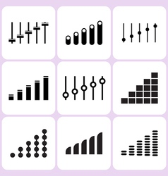 volume icons vector image