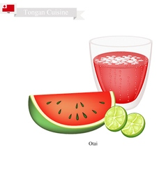 Watermelon Otai or Tongan Coconut Watermelon Drink vector image vector image