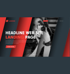 web site header template with diagonal hovering vector image vector image