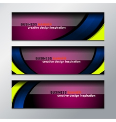 Business banner design vector