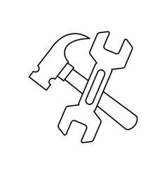 construction tools symbol vector image