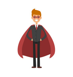 superhero business man character vector image