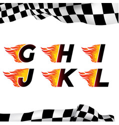Fire and high speed font vector