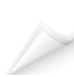 White paper corner on white background vector
