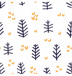 Abstract pattern with stylized branches on a vector