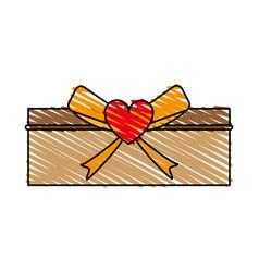 Giftbox with ribbon vector