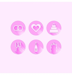 Icons for wedding vector