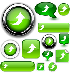 Upload green signs vector