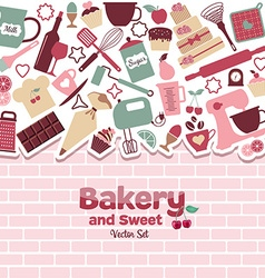 Bakery and sweets abstract vector