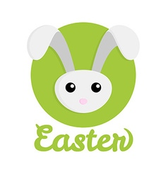 Easter rabbit icon vector