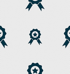 Award medal of honor icon sign seamless abstract vector