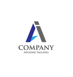 ai letter logo design vector image vector image