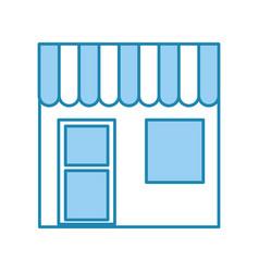 Barbershop building front icon vector