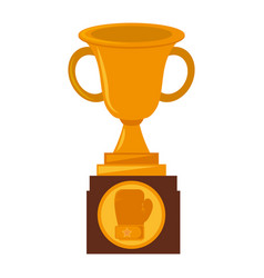 boxing award gold isolated icon vector image vector image