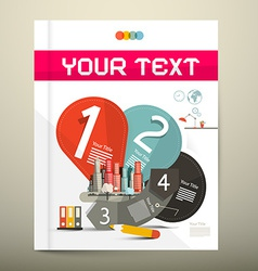 Brochure - Book Infographics Layout - Template vector image vector image