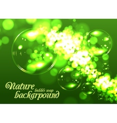 Bubble soap background vector image vector image