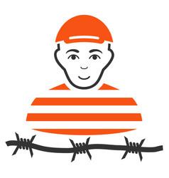 Camp prisoner icon vector