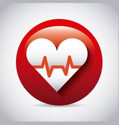 cardio measure design vector image vector image