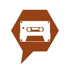 cassette old record icon vector image vector image