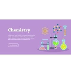 Chemistry science banner chemical preparations vector