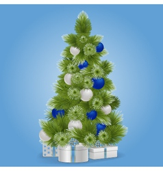 Christmas Snowy Tree vector image