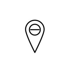 delete place icon vector image