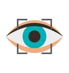 eye human sign isolated icon vector image