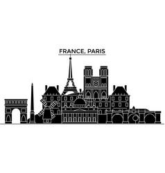 France ile de france paris architecture vector