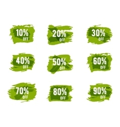 Green ecology sale percents Autumn colors vector image vector image