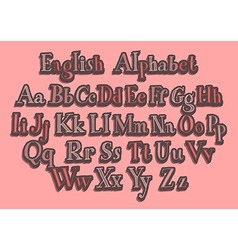 Hand cut alphabet vector