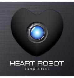Heart Robot Dark Valentine vector image vector image