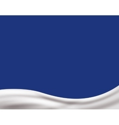 Light cream wave on light blue background vector image vector image