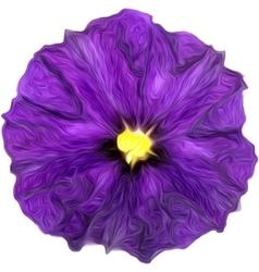 Purple watercolor painting of purple flower vector image vector image