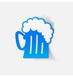 realistic design element beer vector image vector image
