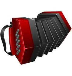 red concertina vector image vector image
