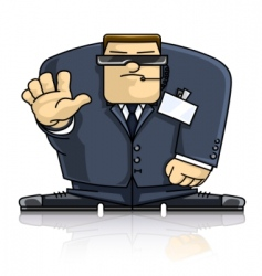 security man in suit and vector image vector image