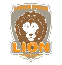 Stylish logo with an image of a lion vector