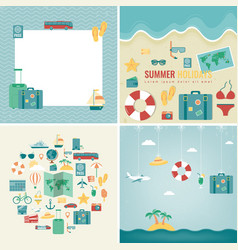 summer holidays backgrounds collection holidays vector image vector image