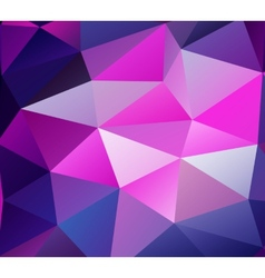 Triangle background purple polygons vector
