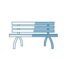 Wooden standard bench place for sitting outline vector