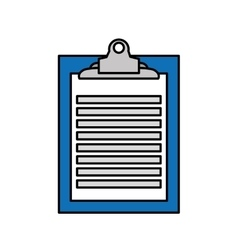 Clipboard paper order isolated icon vector