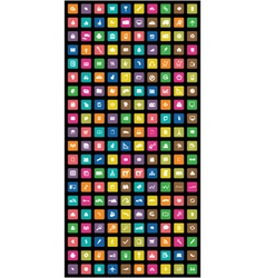 Set of mobile icon colorful vector